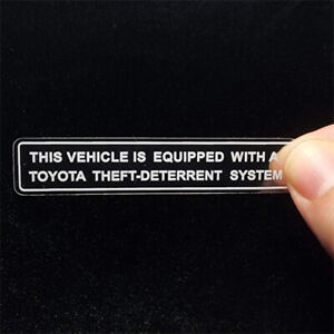 4 Car Alarm Decals For Toyota Inside Outside Glass Window Security Stickers