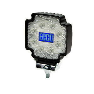 Ecco Lighting Clear Equinox Square 8 Led Flood Light_12 36vdc _ew2102