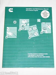 Cummins G5 9 Natural Gas Engine Operation And Maintenance Manual Cd Rom Included