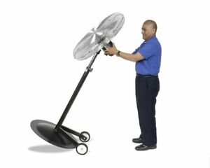 Pedestal Fan Commercial Oscillating 24 1 2 Hp 3 Speed With Wheel Kit