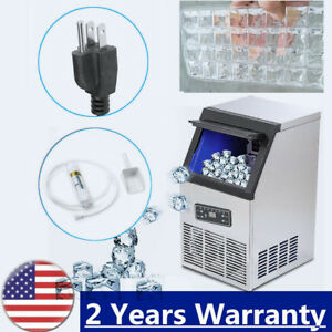 50kg day Commercial Ice Cube Maker Machine Portable Automatic Home Business Top