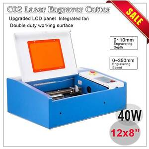 Upgraded 40w Co2 Laser Engraver Cutting Machine Crafts Cutter Usb Interface Edy