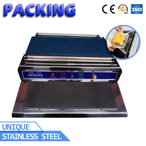 Commercial Household Food Fruit Tray Wrapper Film Wrap Sealer Sealing Machine