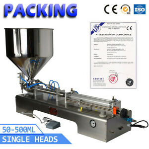 Smc Cylinder 50 500ml Pneumatic Paste Cream Shampoo Cosmetic Filling Machine