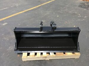 New 48 Case Cx60c Heavy Duty Ditch Cleaning Bucket W Coupler Pins