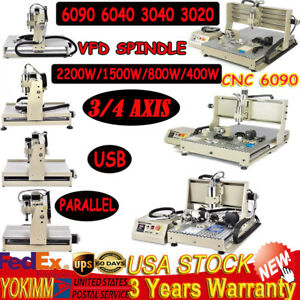 Usb 3 4 Axis Cnc Router 6090 6040 3040 Engraver Machine Milling Drilling 1500w