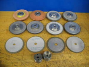 10 4 Dia Norton Diamond Grinding Wheels 1 2 Bore Hubs Angles Straight