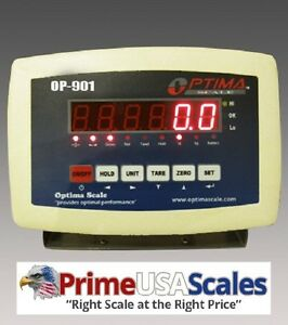 Optima Scales Op 901 Abs Plastic Digital Weighing Indicator With Rechargeable
