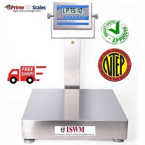 24 X 24 Washdown Bench Scale Ntep Certified 500 Lb Stainless Steel