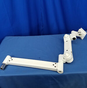 White Dental Monitor Wall Mount Standard Adjustable Arm Part No 22 04 3 4