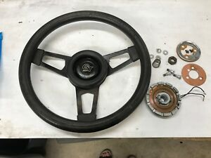 Gt Grant 3 Spoke Steering Wheel W Horn Button 84 89 Mustang Ratrod Rat Rod