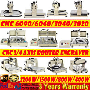 Usb 3 4 Axis Cnc Router 6090 6040 3040 Engraver Milling Drilling Machine 1500w