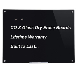 Magnetic Dry Erase Board Glass Whiteboard Note Memo Eraser Wall 36 X 24 New