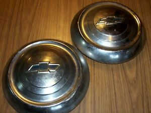 2 1951 1952 1953 Chevrolet Dog Dish Hub Caps 9 1 2 Od
