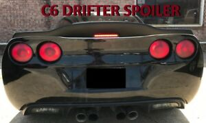 Unpainted For 2005 2013 Chevrolet Corvette C6 Drifter Style Rear Spoiler Wing