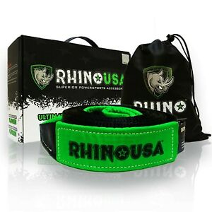 Rhino Usa Recovery Tow Strap 3 X 30 Lab Tested 31 518lb Break Strength