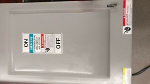 Siemens 60 Amp 600vac dc Solar Safety Disconnect Switch 3p Hf362pvpg