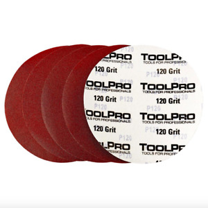 9 in 120 Grit Hook & Loop Sander Sanding Disc 5 Pack Sandpaper Aluminum Oxide