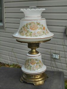 Vintage Hurricane Lamp Quoizel Electric Glass Table Lamp 21 Tall Gwtw