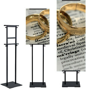 1 Pack poster Stand Pedestal Display Floor Standing Adjustable Tilt Sign Holder