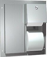 Asi 0032 Toilet Paper Dispenser Twin Hide a roll Partition Mounted
