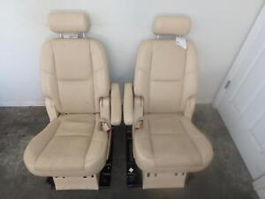 07 14 Cadillac Escalade 2nd Second Row Rear Seat Tan Leather Manual Oem