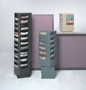 Magazine Display 92 Compartments Black 415 95