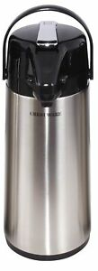 Crestware Leaver Airpot Glass Lined 2 5 Liter Apl25g