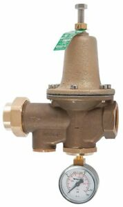 Watts Water Pressure Reducing Valve Standard Valve Type Lead Free Brass 1
