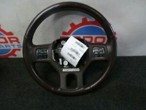 13 14 16 17 Dodge Ram Brown Leather Steering Wheel Audio Controls