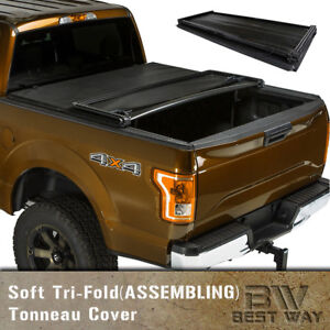 Assemble Soft Tri Fold Tonneau Cover For 2007 2013 Gmc Sierra 6 5ft 78in Bed