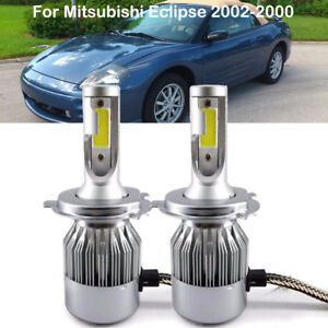 Car Front H4 9003 Led Headlight Kit Power Bulbs For Mitsubishi Eclipse 2002 2000