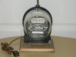 Vtg 1936 Westinghouse Electric Meter Lamp Type Ca 15 Amps 115 230 Volts 3 Wire