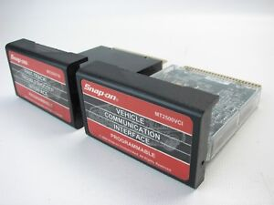 Snap On Mt2500tsi Mt2500vci Programmable Interface Mt2500 Cartridges Set