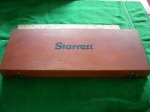 Exc Starrett Micrometer Depth Gage Set Complete W 8 Rods And 1 2 Base 443
