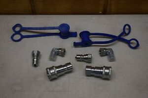 1 4 Npt Hydraulic Quick Couplings And Plug Set 2 Sets
