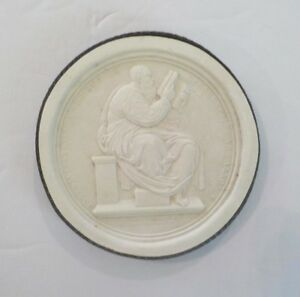 Authentic Grand Tour Classic Plaster Cameo Intaglio Medallion C 1820 5