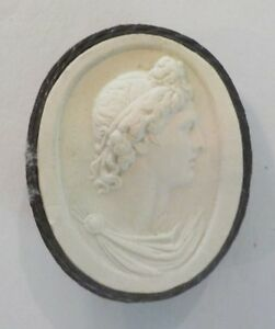 Authentic Grand Tour Classic Plaster Cameo Intaglio Medallion C 1820 9