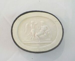 Authentic Grand Tour Classic Plaster Cameo Intaglio Medallion C 1820 10
