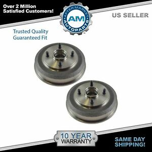 Nakamoto Rear Brake Drum Pair Set For 00 08 Ford Focus