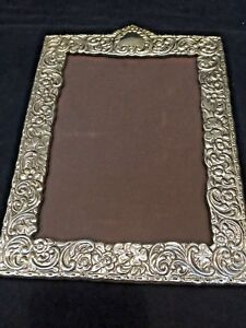 Italian Repouss Sterling Silver Picture Photo Frame Florence No Mono 5x7