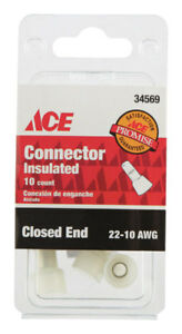 case Of 10 Packs 22 10 Awg Closed End Connector Insulated Wire 10 Per Pack
