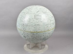 Vtg Replogle Lunar Globe Mid Century Modern 12 Usa W Stand Moon Astronaut Space