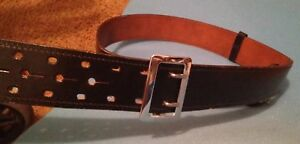 New 46 Black Leather Duty Belt Monarch No 42 Style never Used