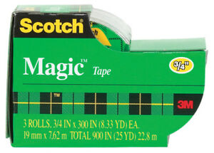 case Of 72 Packs Scotch 3 4 W X 300 L X 300 L X 3 4 W Clear Tape 3 Per Pack