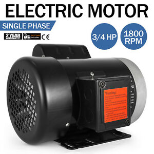 Electric Motor 3 4 Hp 1 Phase 1800 Rpm 5 8 Inch Shaft Outdoors Agricultural Ce