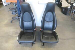 2006 2012 Porsche Cayman Front Seat Set Bucket Airbag Leather Manual Oem