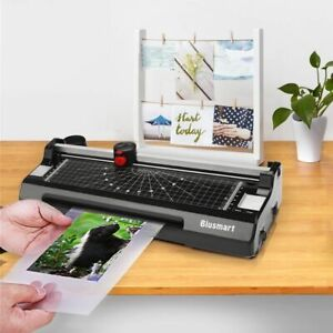 Black 3 In 1 Laminator Laminating Machine Set With Paper Trimmer Cutter Corner