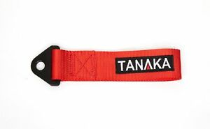 Tanaka High Strength Universal Racing Tow Strap Tow Hook Red