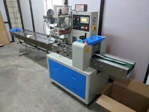 Cp250 Automatic Horizontal Flowwrapper Form Fill Seal Machine With Data Encoder
